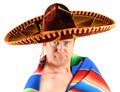 Man in Sombrero Royalty Free Stock Photo