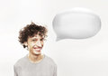 Man with speech bubble Royalty Free Stock Image
