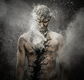 Man with spiritual body art conceptual Stock Image