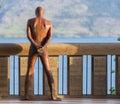 Man standing akimbo Royalty Free Stock Photo