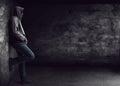 Man standing alone