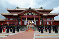 The man standing in front of Shuri castle, Okinawa