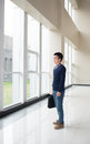 Man standing in the hall Royalty Free Stock Photo