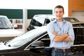 Man standing near a car Royalty Free Stock Photo