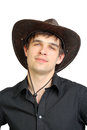 Man in stetson hat Royalty Free Stock Photography