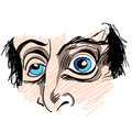 Man with strange eyes an image of a Royalty Free Stock Images