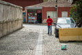Man in the street in Istanbul, Turkey Royalty Free Stock Photo
