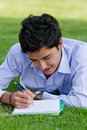 Man studying outdoors Royalty Free Stock Photography