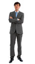 Man in Suit with Folded Arms Royalty Free Stock Photos