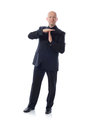 Man in suit time out Stock Photography