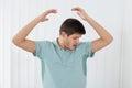 Man Sweating Very Badly Under Armpit Royalty Free Stock Photo