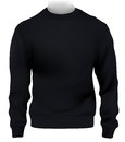 Man sweatshirt template design black Stock Photos