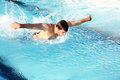 Man swimming butterfly Royalty Free Stock Photography