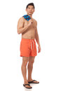 Man in Swimwear Royalty Free Stock Photography