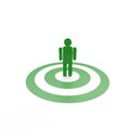 Man symbol on green circles Royalty Free Stock Image