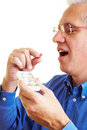 Man taking his medication Royalty Free Stock Photo