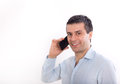 Man talking on cell phone Royalty Free Stock Photo