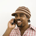 Man talking on phone. Stock Photo