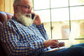 Man talking on the smartphone Royalty Free Stock Photo