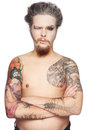 Man with tattoos Stock Image