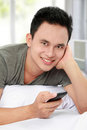 Man texting message Royalty Free Stock Photo