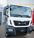Man tgs truck vilnius lithuania may on may in vilnius lithuania ag is a german mechanical engineering company supplies Stock Image