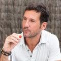 Man thinking and eating Royalty Free Stock Photo