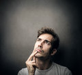 Man thinking of something a Royalty Free Stock Image