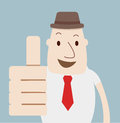 Man thumbs up vector a Royalty Free Stock Photos