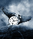 Man and time Royalty Free Stock Photo