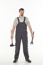 Man with tool Royalty Free Stock Photo