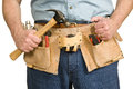 Man With Toolbelt Royalty Free Stock Photo