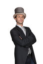 Man in a top hat and tails Royalty Free Stock Images