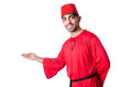 Man in traditional turkish hat and dress Stock Photos