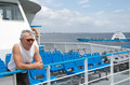 Man travelling on ferry Royalty Free Stock Photo