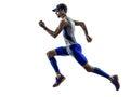 Man triathlon iron man athlete runners running Royalty Free Stock Photo