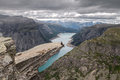 Man Trolltunga Royalty Free Stock Photo