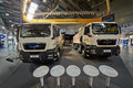 Man trucks at th international specialized exhibition moscow may of construction equipment and technologies Stock Images