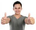 Man two thumbs up Royalty Free Stock Image