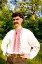 Man in the Ukrainian national costume Royalty Free Stock Photography
