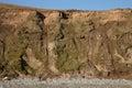 Man under mudslide. Royalty Free Stock Photo