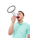 Man using megaphone Royalty Free Stock Photos
