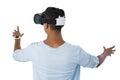 Man using virtual reality headset Royalty Free Stock Photo