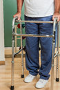 Man using a walker Royalty Free Stock Photo