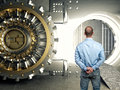 Man and vault Royalty Free Stock Photo