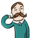 Man vector illustration of a with moustache Royalty Free Stock Photography
