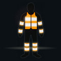 Man with waistcoat in the dark orange Royalty Free Stock Photos