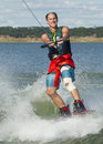 Man wakeboarding Royalty Free Stock Photo
