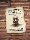 Man on the wanted list Royalty Free Stock Photo