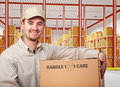 Man in warehouse Royalty Free Stock Images